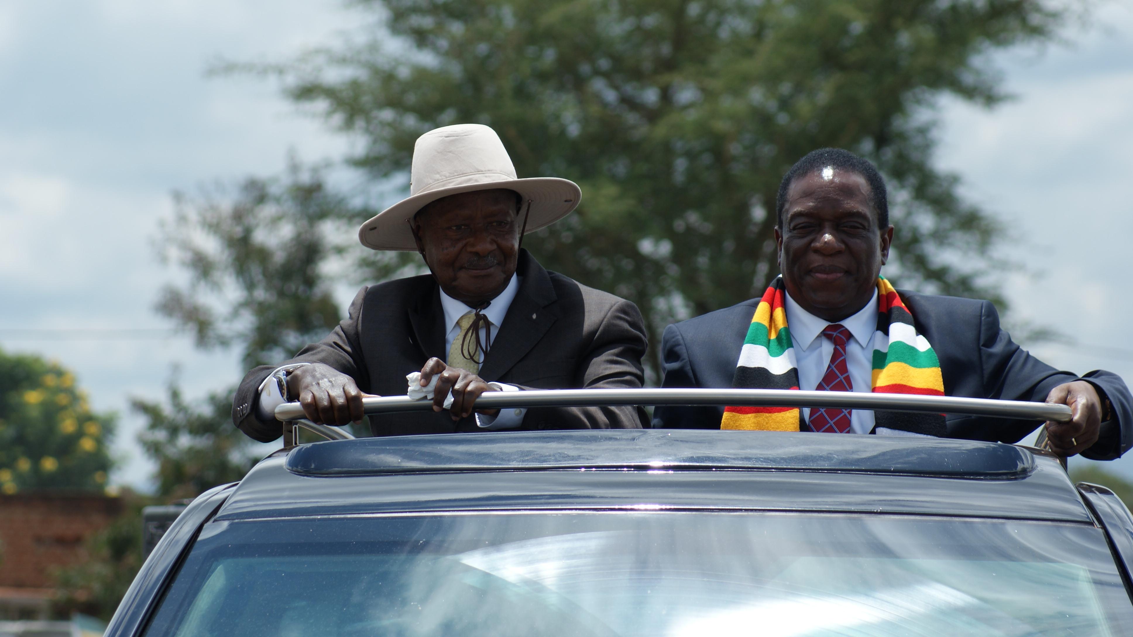 President Mnangagwa in Uganda on state visit